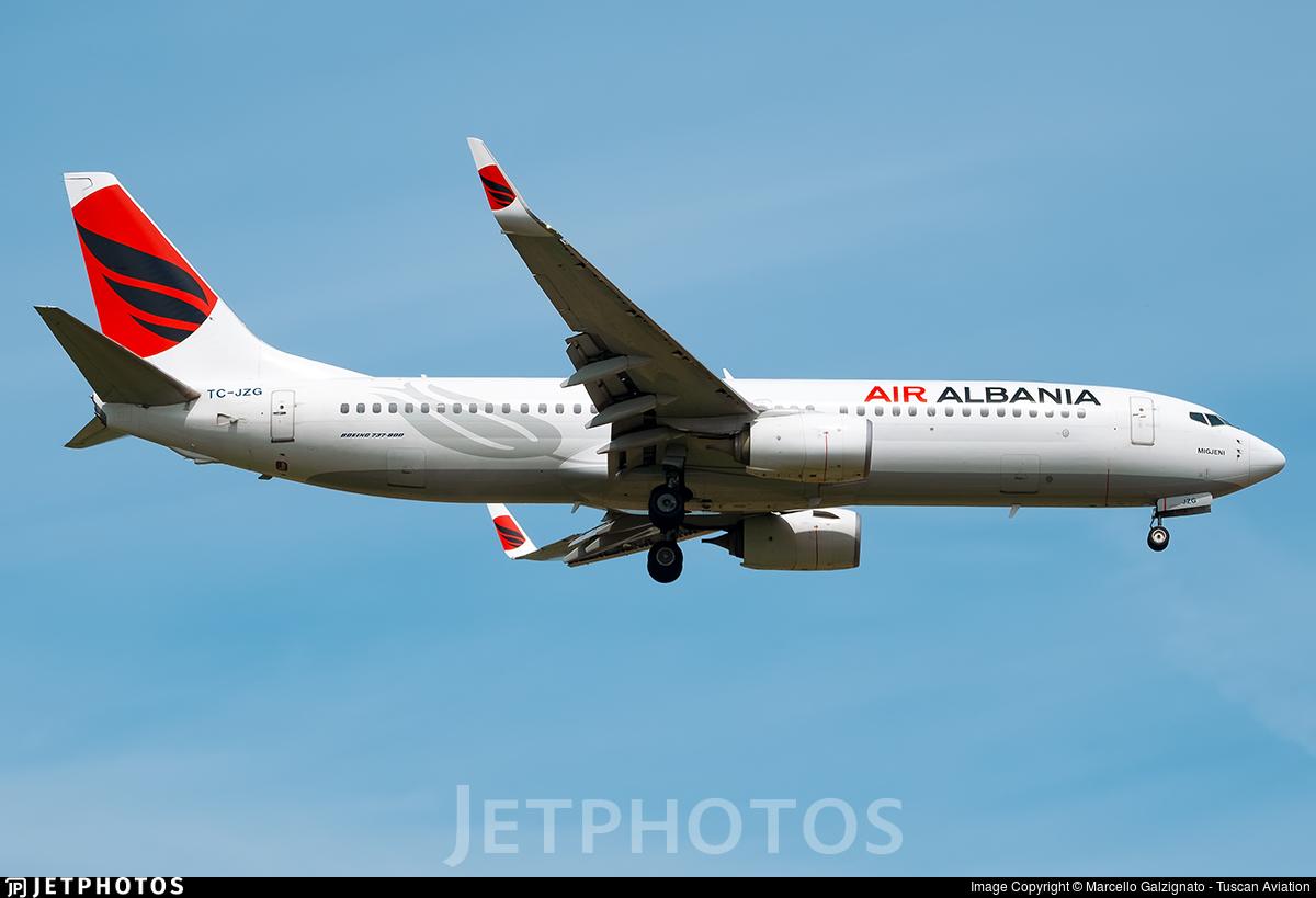 TC-JZG - Boeing 737-8F2 - Air Albania (Turkish Airlines)
