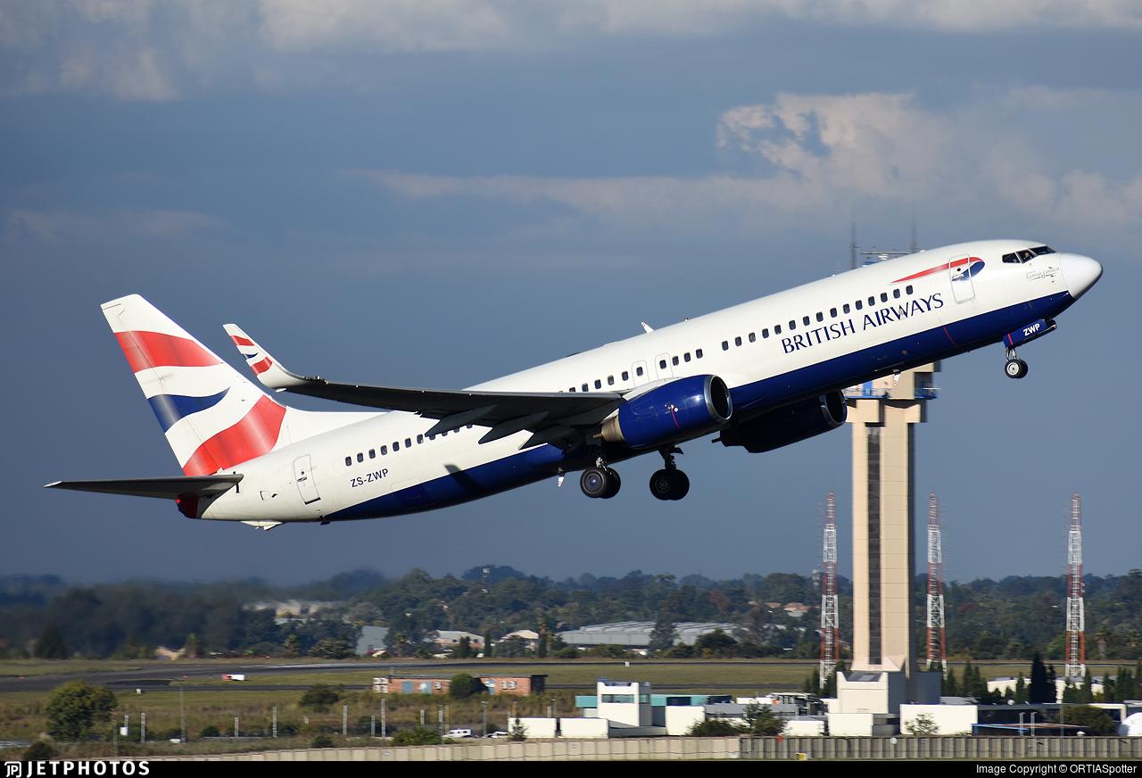 ZS-ZWP - Boeing 737-86N - British Airways (Comair)