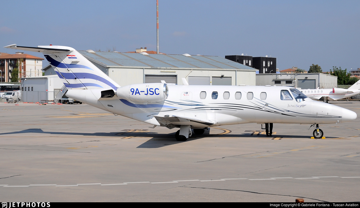 9A-JSC - Cessna 525A CitationJet 2 - Jung Sky