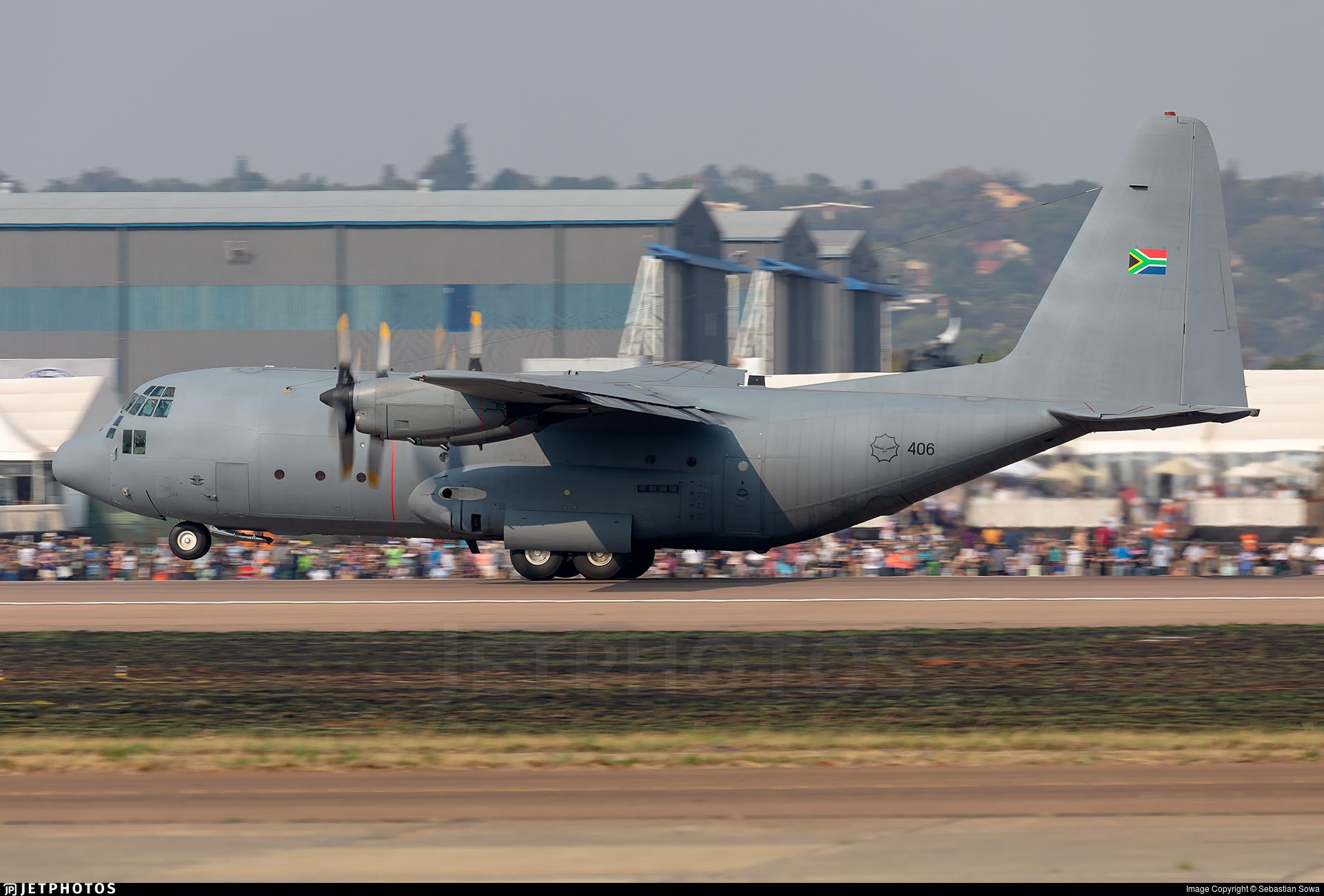 406 - Lockheed C-130B Hercules - South Africa - Air Force