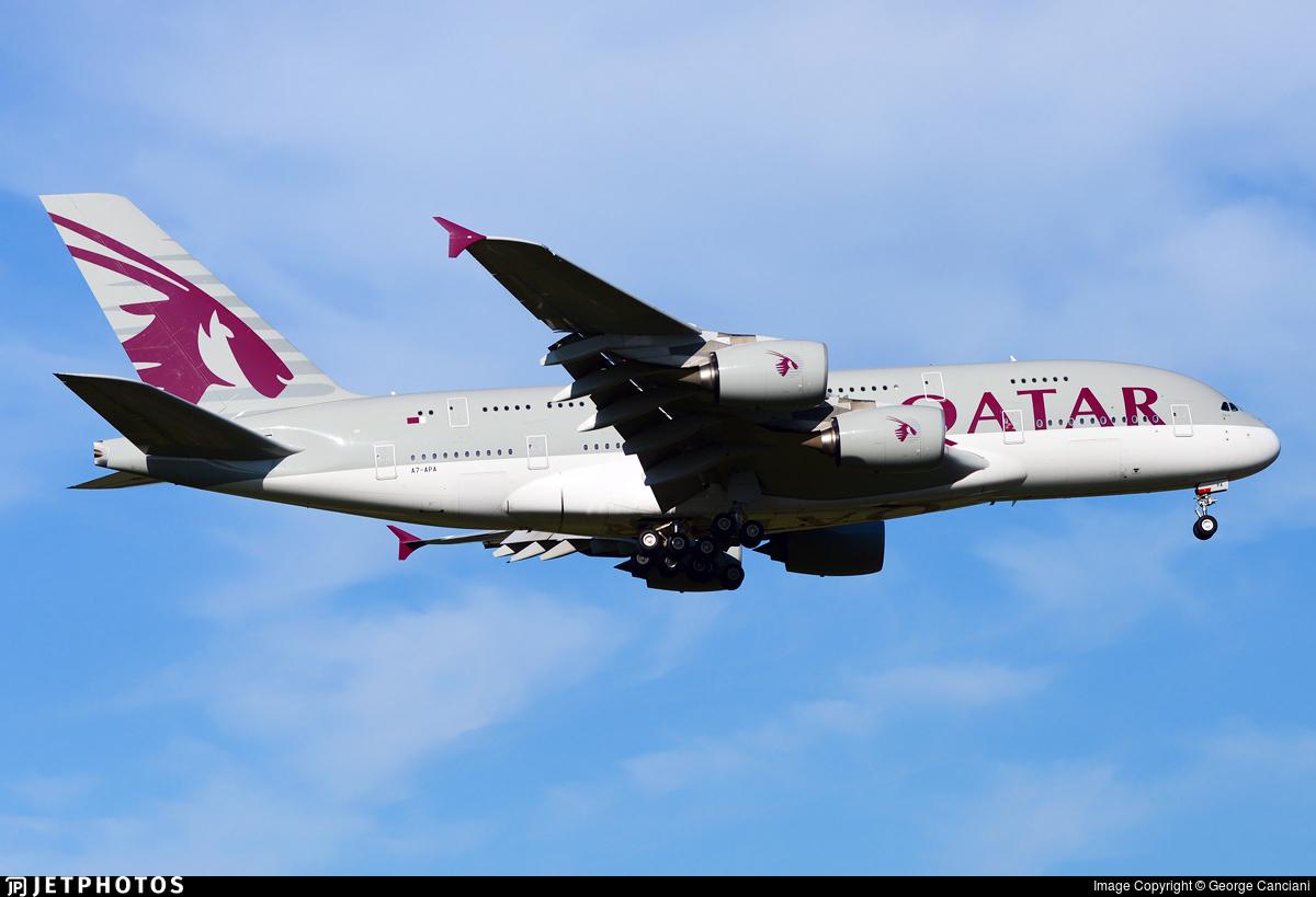A7-APA - Airbus A380-861 - Qatar Airways