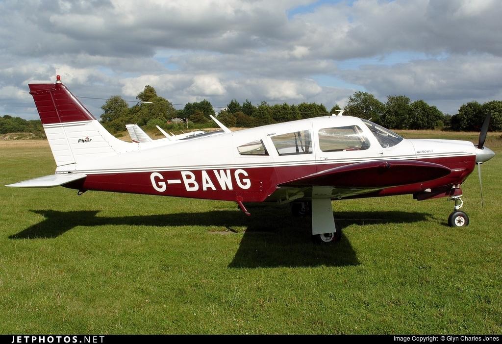 G-BAWG - Piper PA-28R-200 Cherokee Arrow II - Private