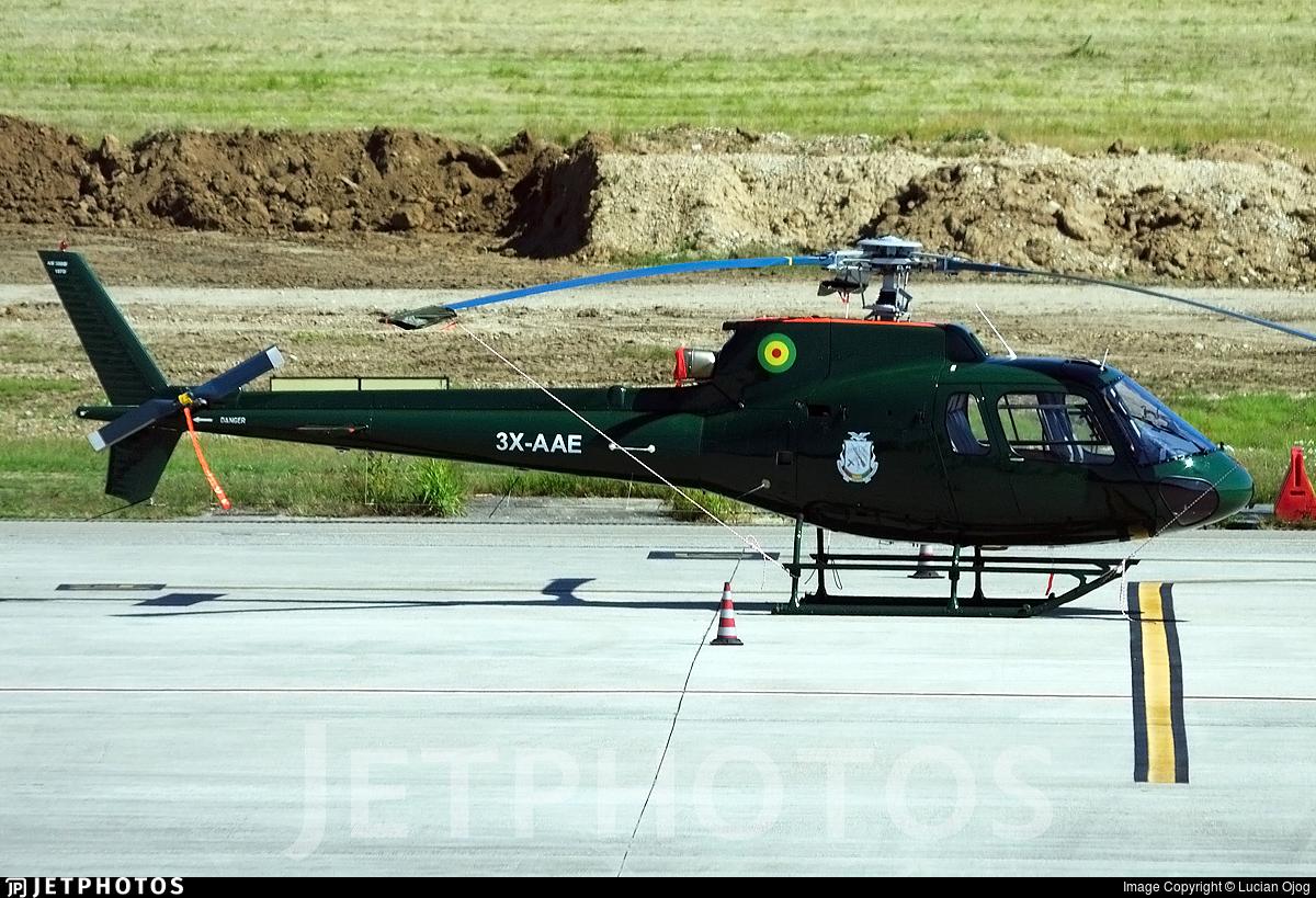 3X-AAE - Eurocopter AS 350B2 Ecureuil - Equatorial Guinea - Air Force