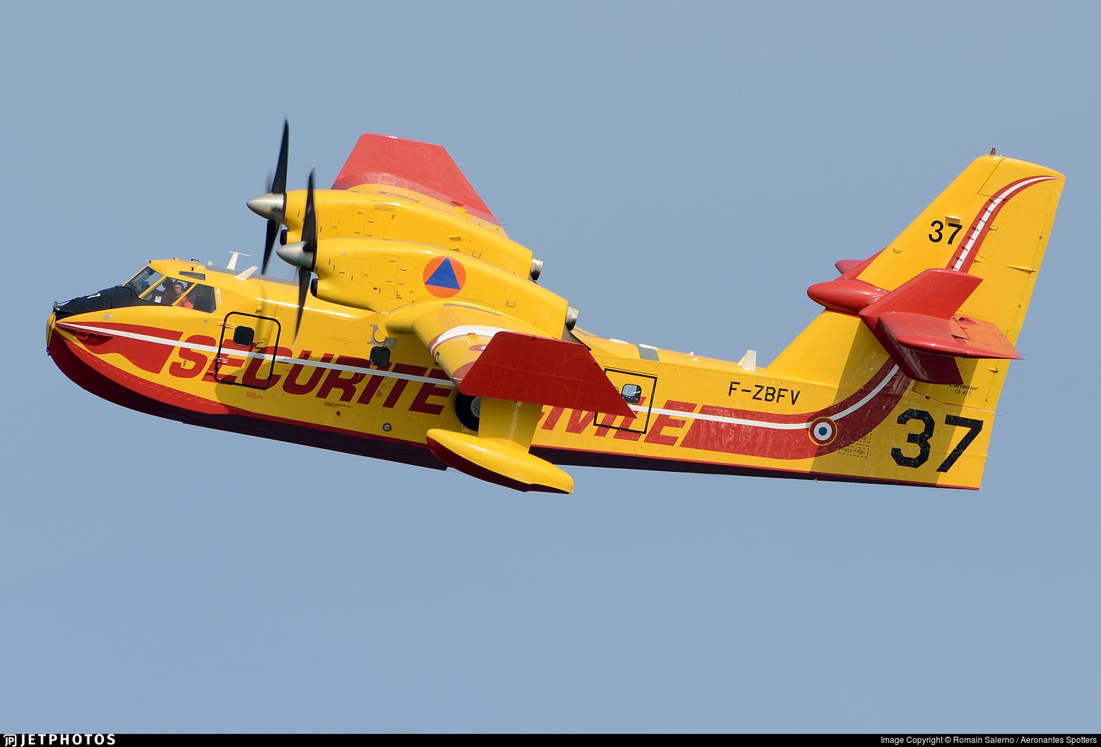 F-ZBFV - Canadair CL-415 - France - Sécurité Civile