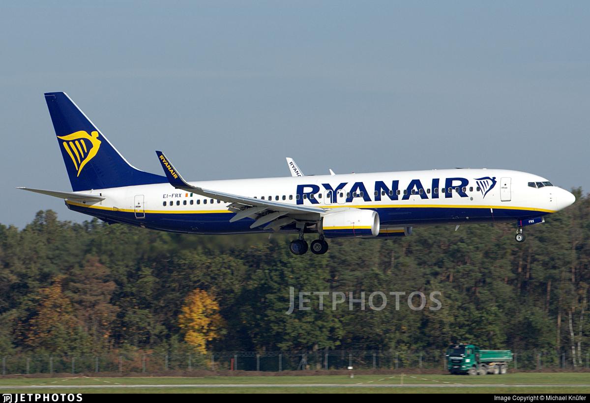 EI-FRX - Boeing 737-8AS - Ryanair