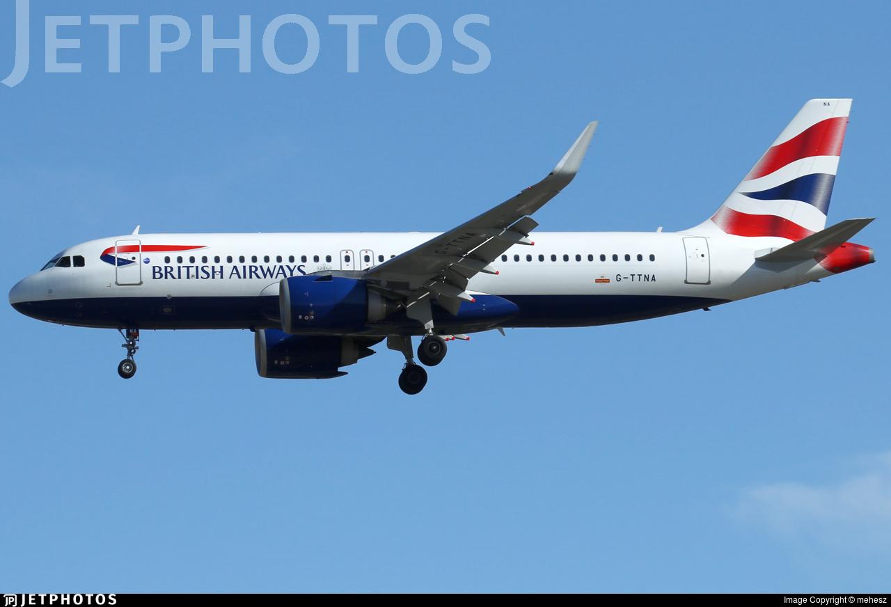 G-TTNA - Airbus A320-251N - British Airways