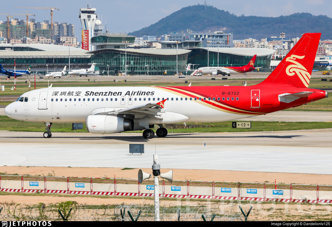 B-6722 - Airbus A320-232 - Shenzhen Airlines
