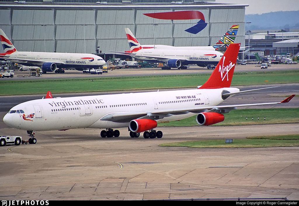 G-VAIR   Airbus A340-313X   Virgin Atlantic Airways   Roger