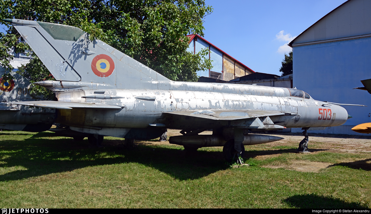 503 - Mikoyan-Gurevich MiG-21M Fishbed J - Romania - Air Force