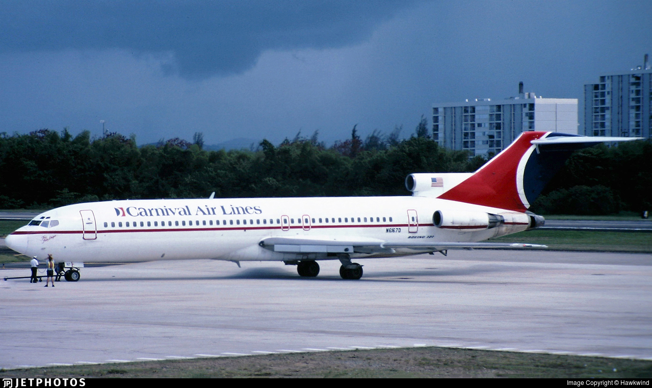 N6167D - Boeing 727-282(Adv) - Carnival Airlines
