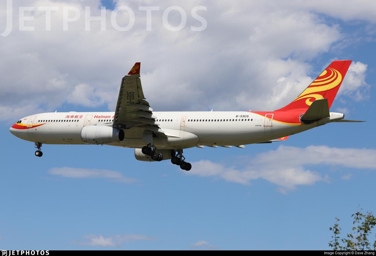 B-5905 - Airbus A330-343 - Hainan Airlines