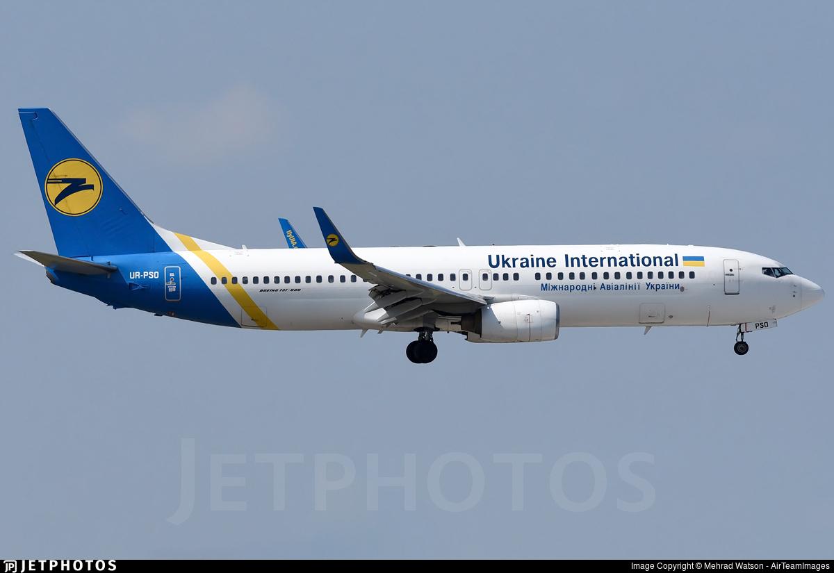 UR-PSO - Boeing 737-8Q8 - Ukraine International Airlines
