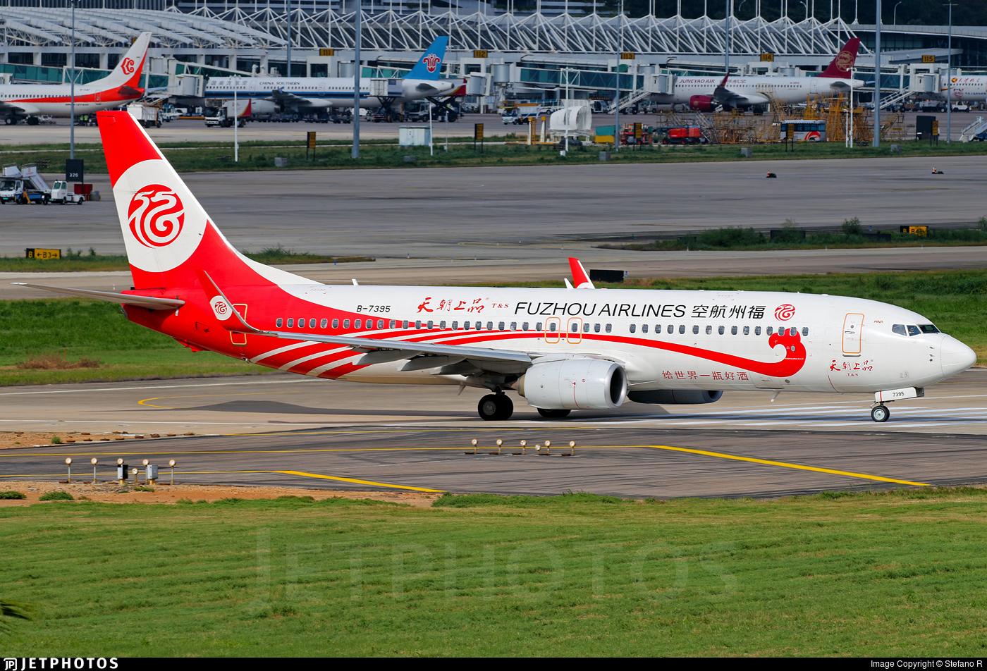 B-7395 - Boeing 737-84P - Fuzhou Airlines