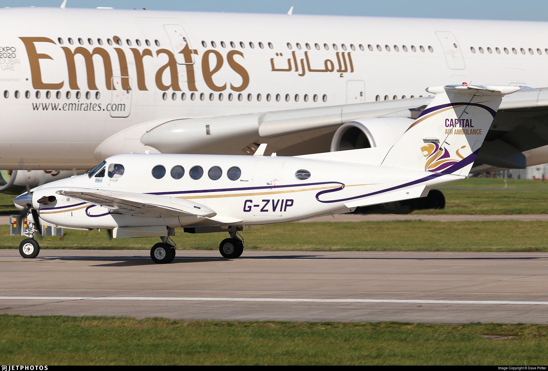 G-ZVIP - Beechcraft B200 Super King Air - Capital Air Ambulance