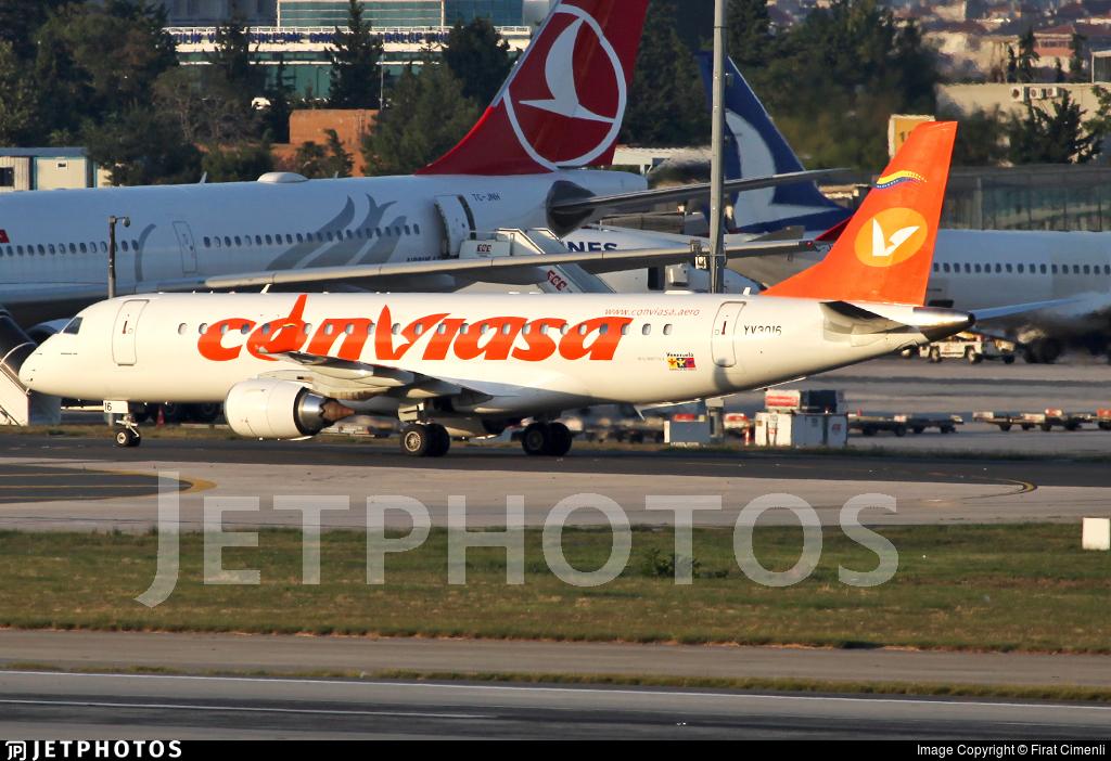 YV3016 - Embraer 190 Lineage 1000 - Conviasa