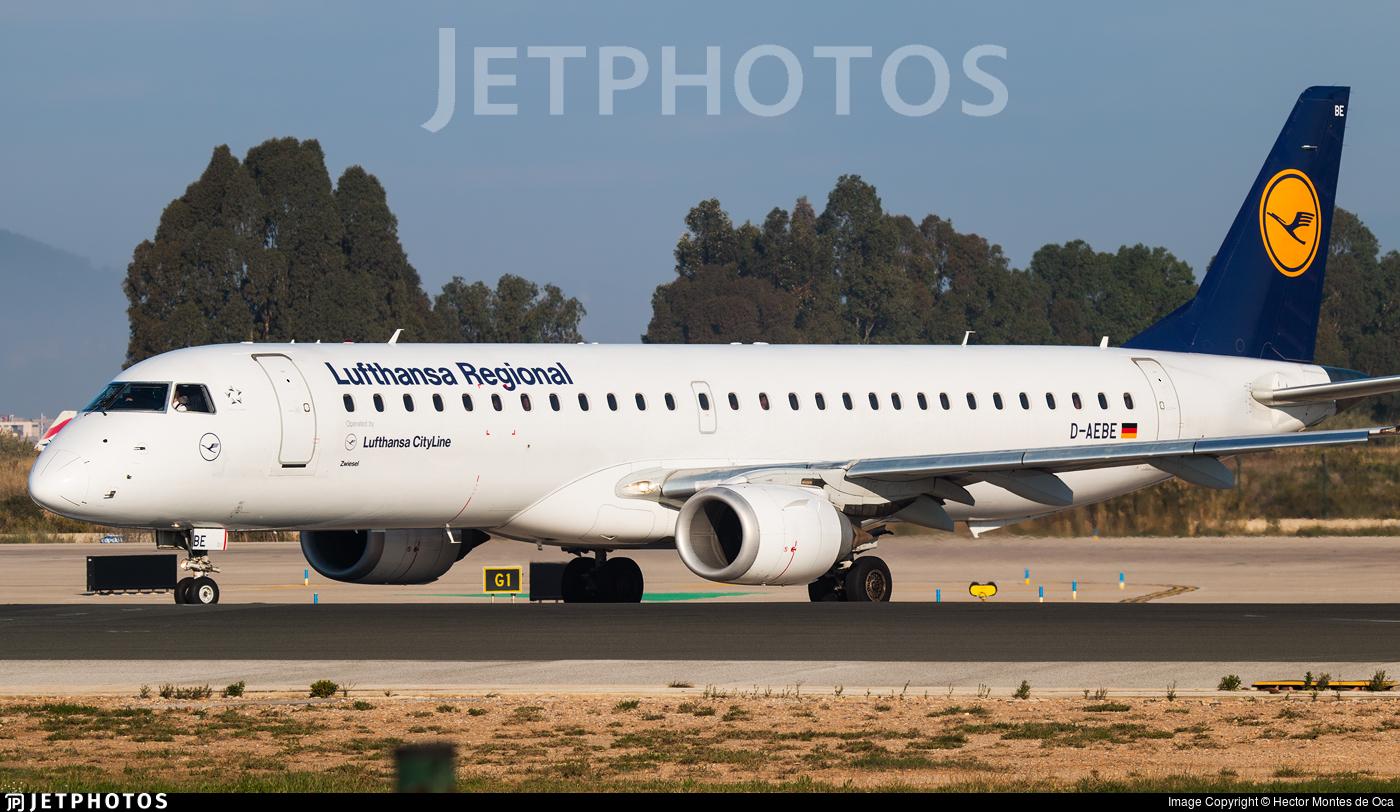 D-AEBE - Embraer 190-200LR - Lufthansa Regional (CityLine)