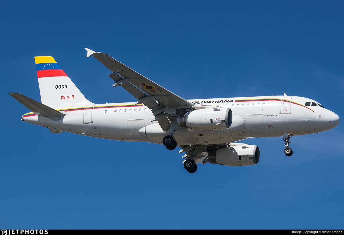 0001 - Airbus A319-133X(CJ) - Venezuela - Air Force