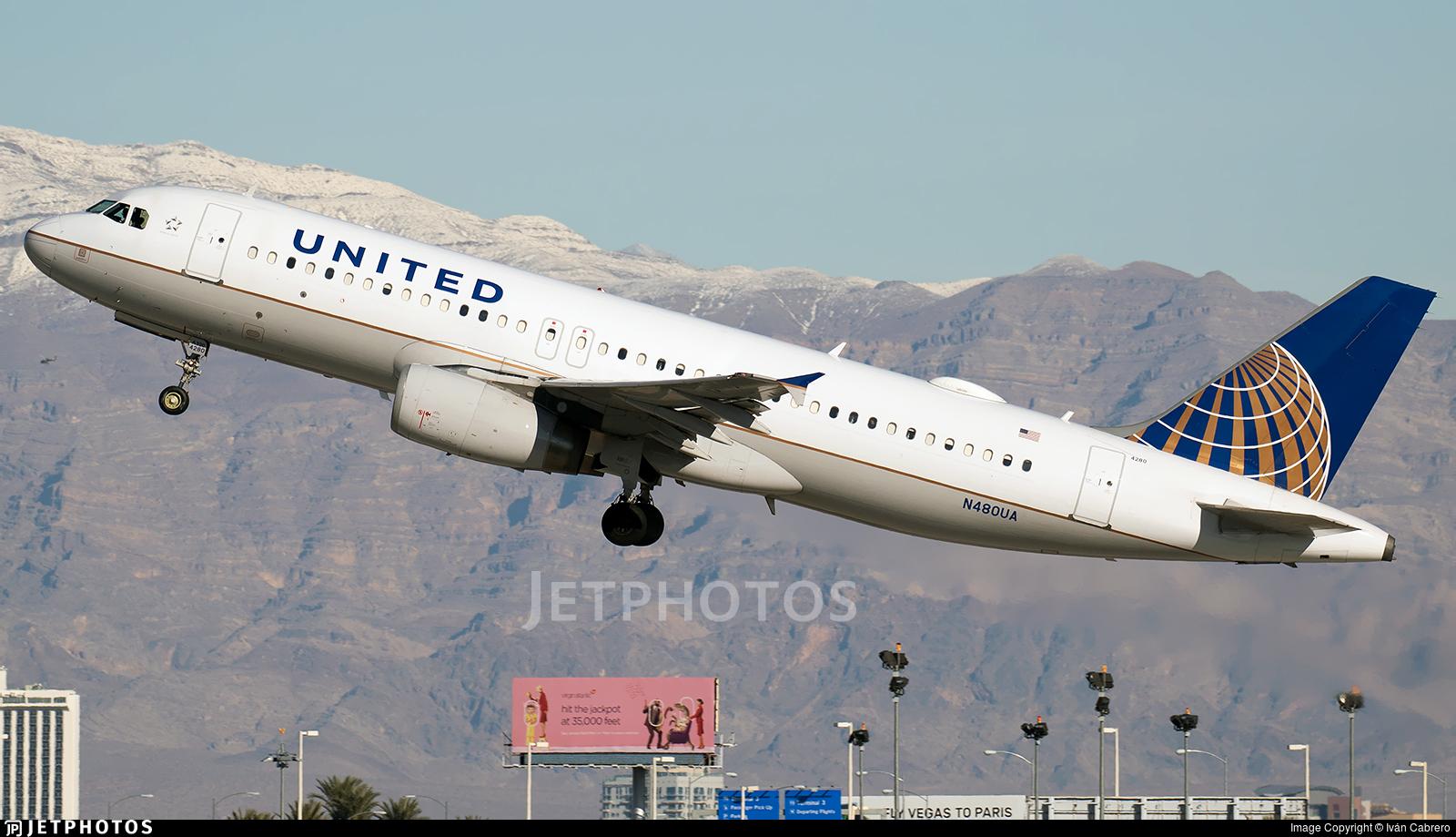 N480UA - Airbus A320-232 - United Airlines