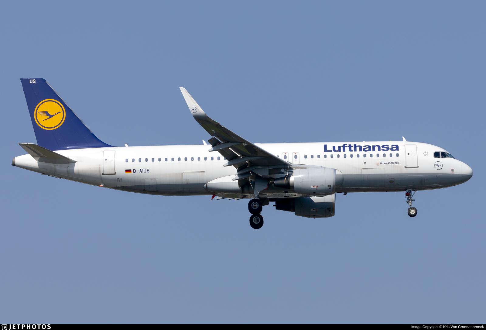 D-AIUS - Airbus A320-214 - Lufthansa