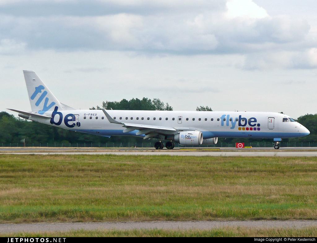 G-FBED - Embraer 190-200LR - Flybe