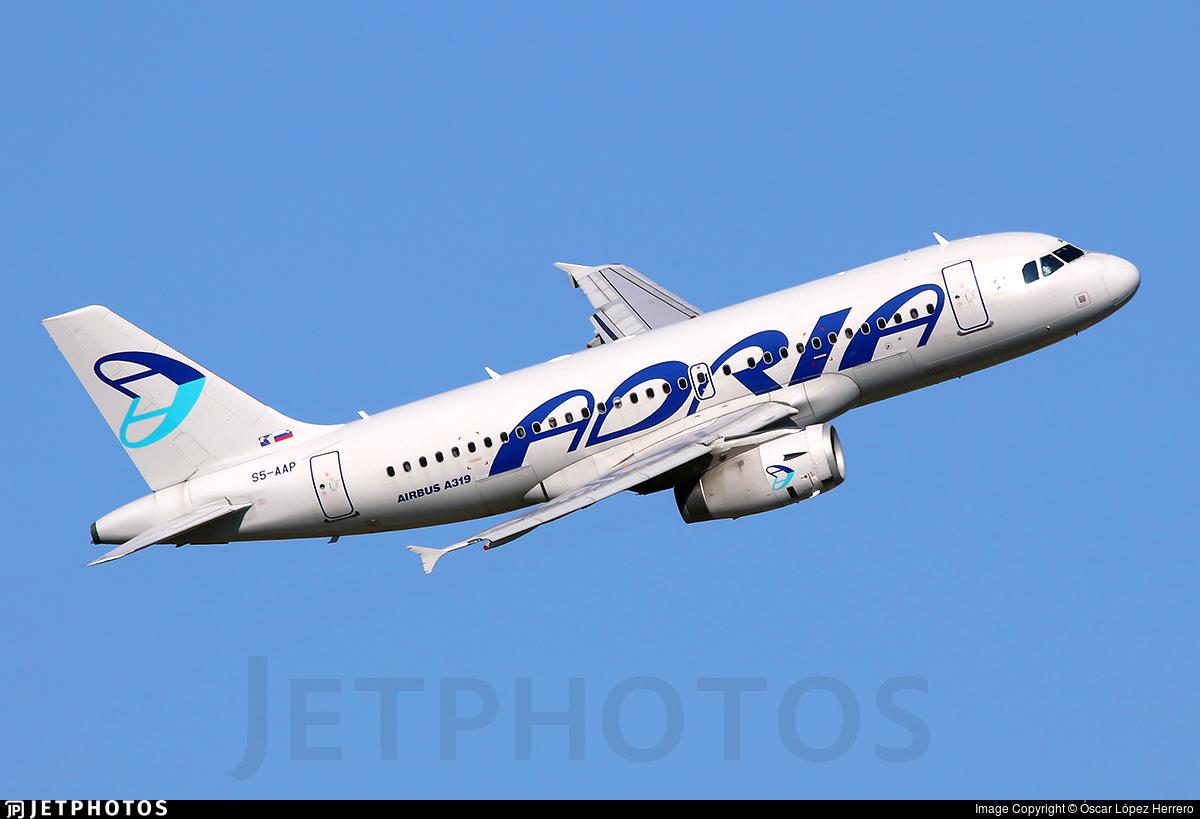 S5-AAP - Airbus A319-132 - Adria Airways