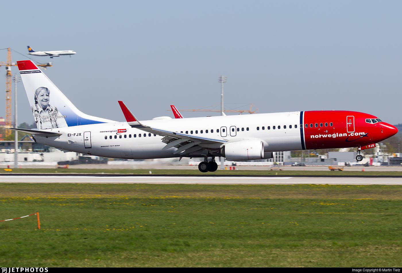 EI-FJX - Boeing 737-8JP - Norwegian
