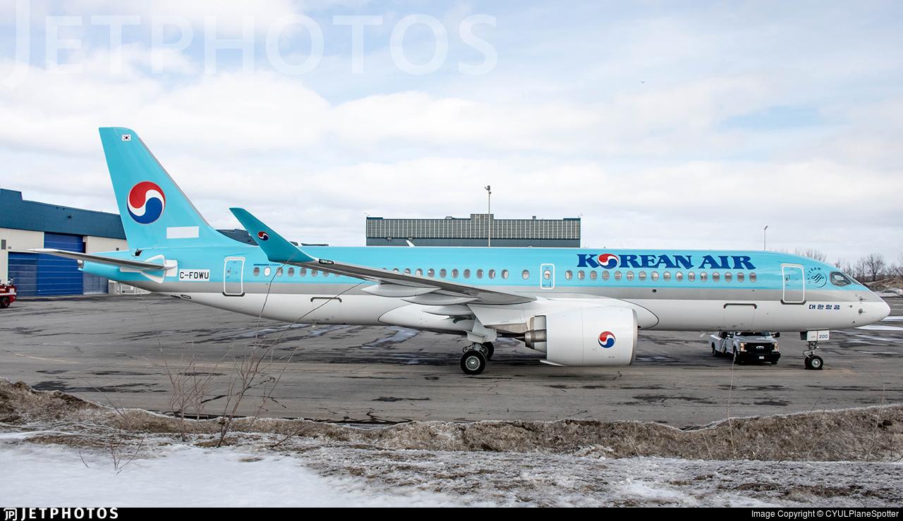 C-FOWU - Bombardier CSeries CS300 - Korean Air