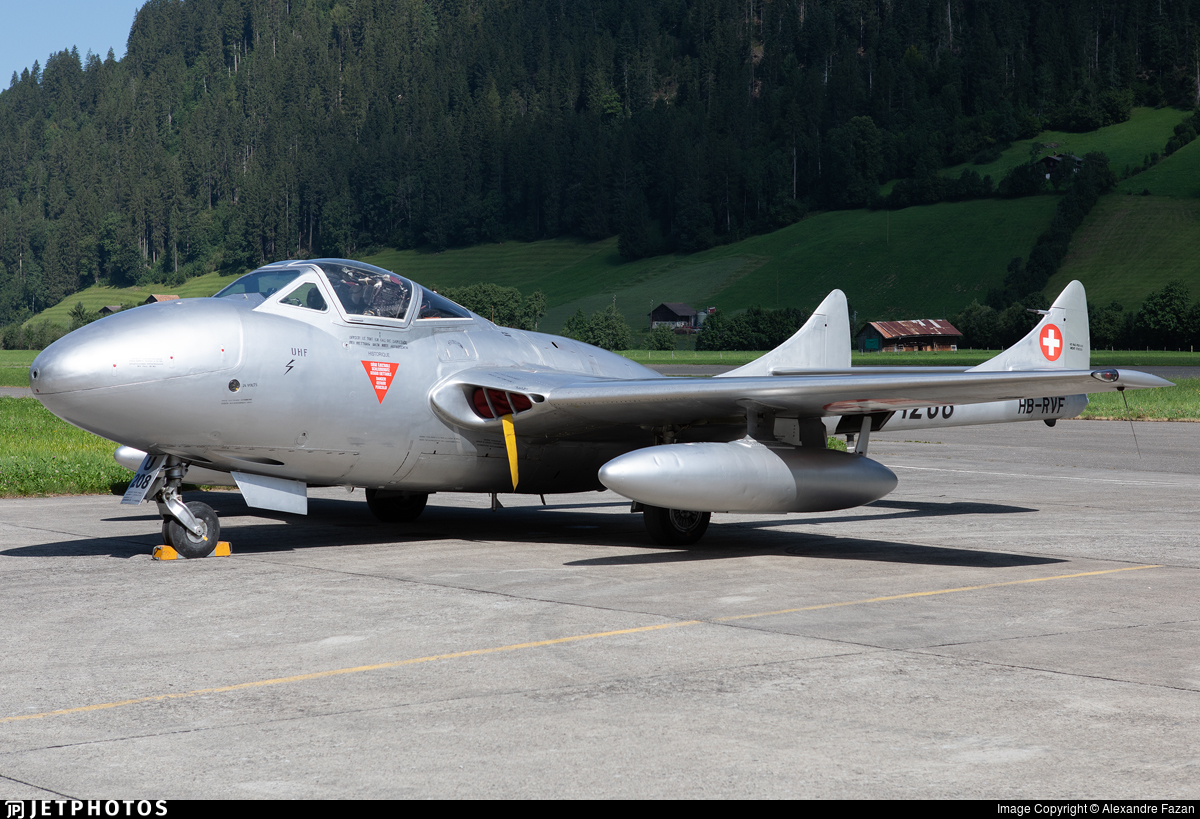 HB-RVF - De Havilland Vampire T.55 - Private
