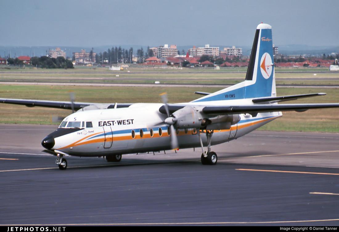 VH-EWS - Fokker F27-500 Friendship - East West Airlines
