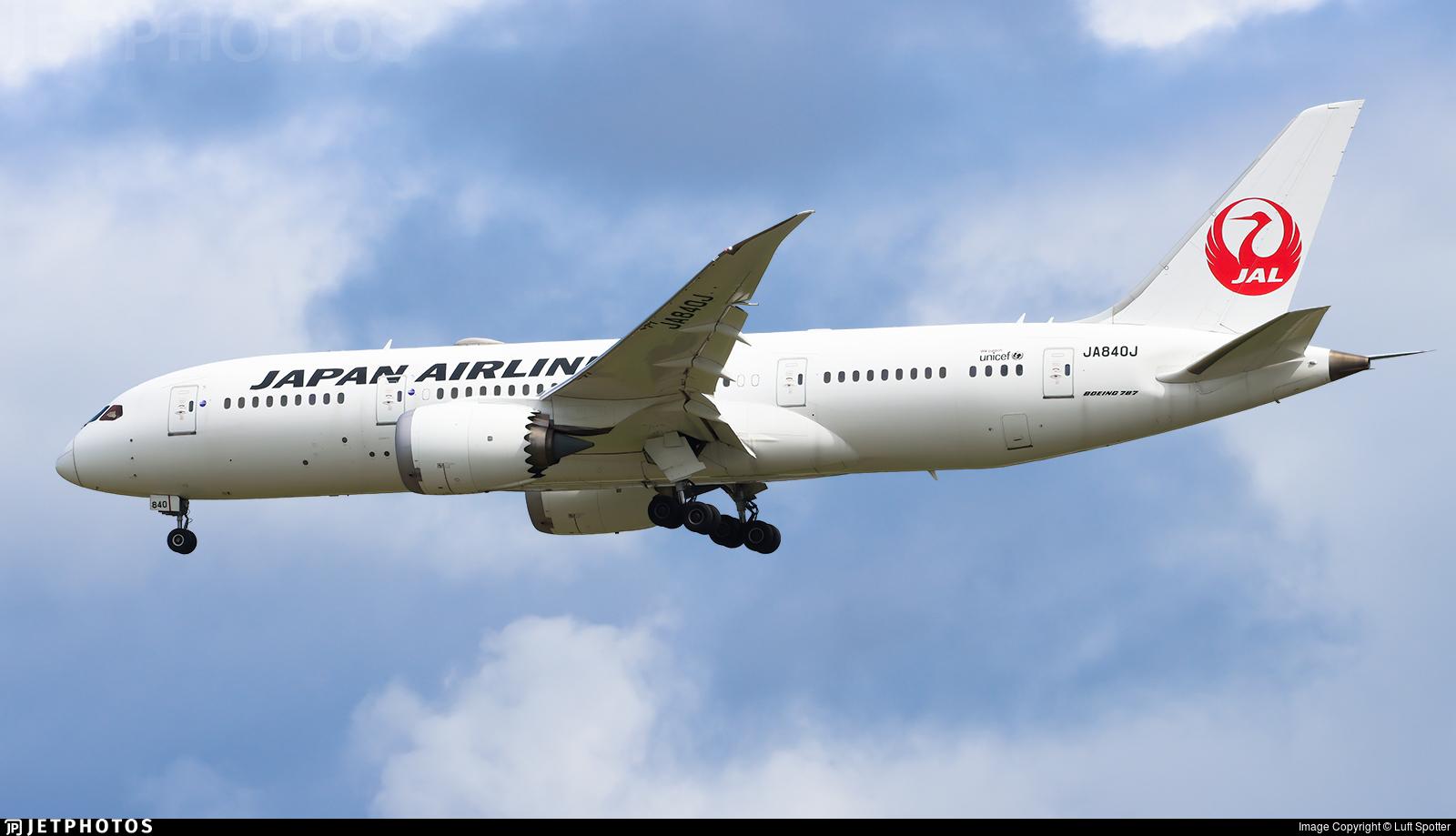 JA840J - Boeing 787-8 Dreamliner - Japan Airlines (JAL)