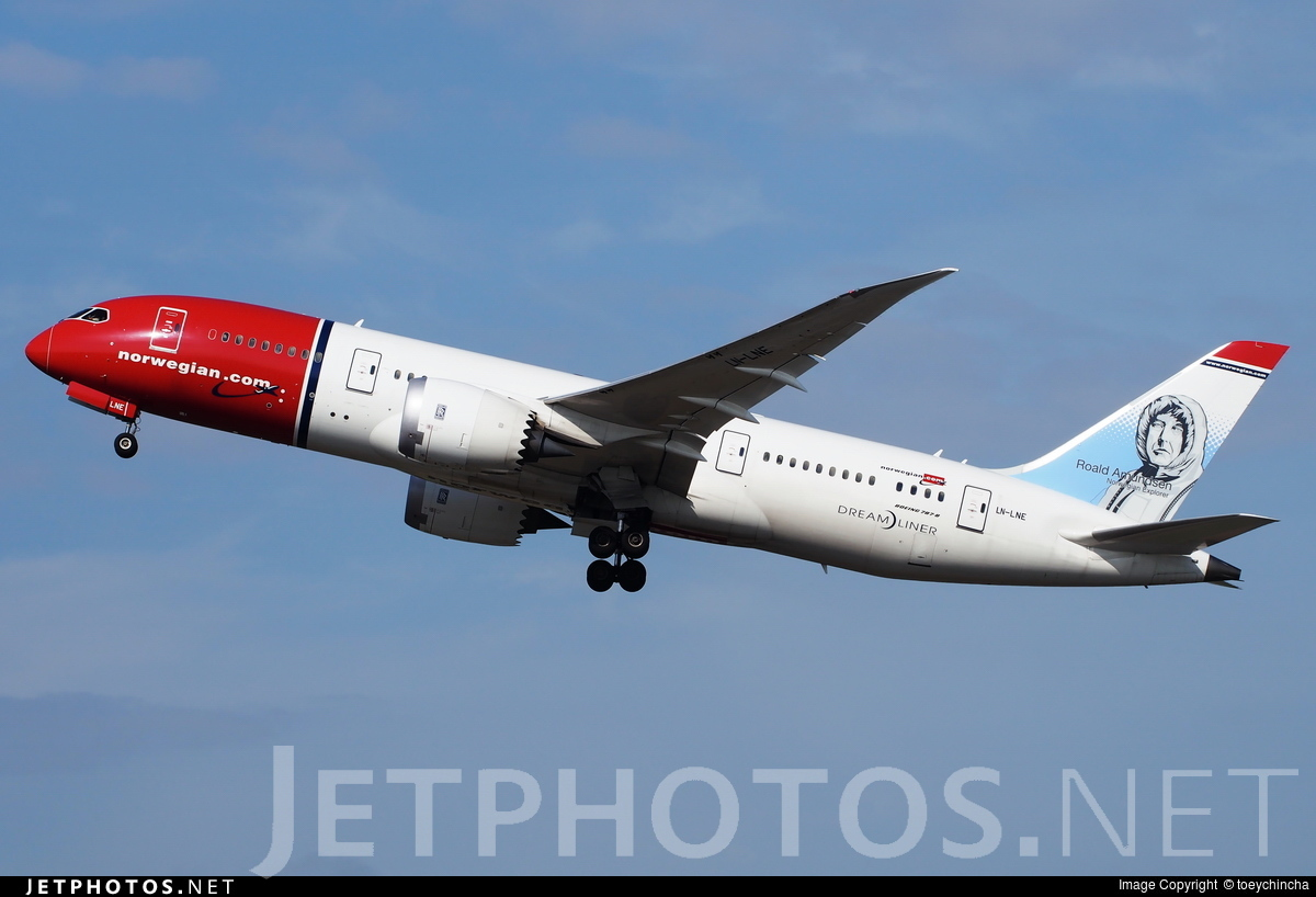 LN-LNE - Boeing 787-8 Dreamliner - Norwegian