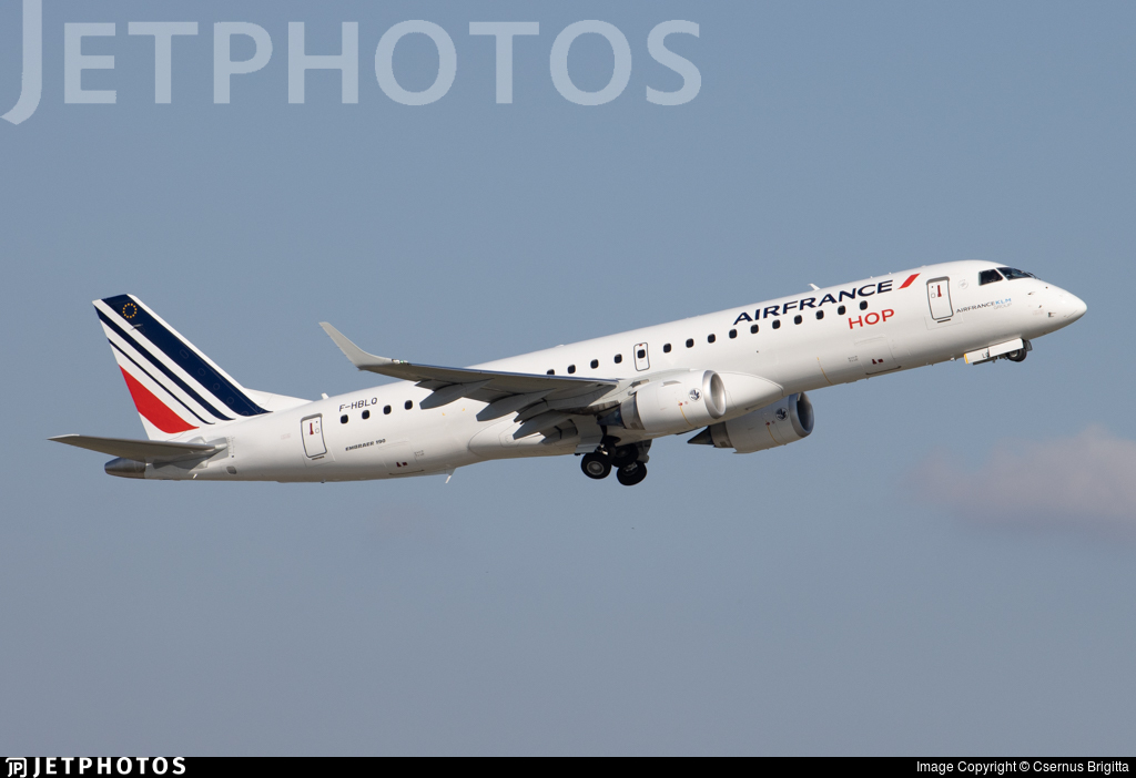 F-HBLQ - Embraer 190-100STD - Air France HOP