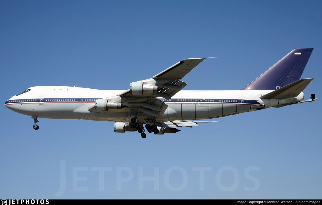 5-8105 - Boeing 747-131(SF) - Iran - Air Force