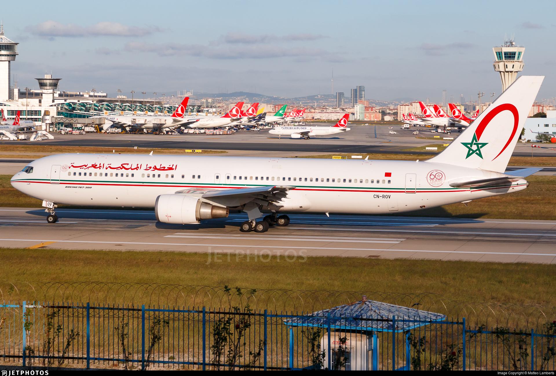 CN-ROV - Boeing 767-3Q8(ER) - Royal Air Maroc (RAM)