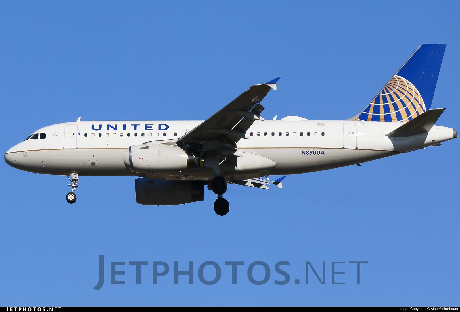 N890UA - Airbus A319-132 - United Airlines