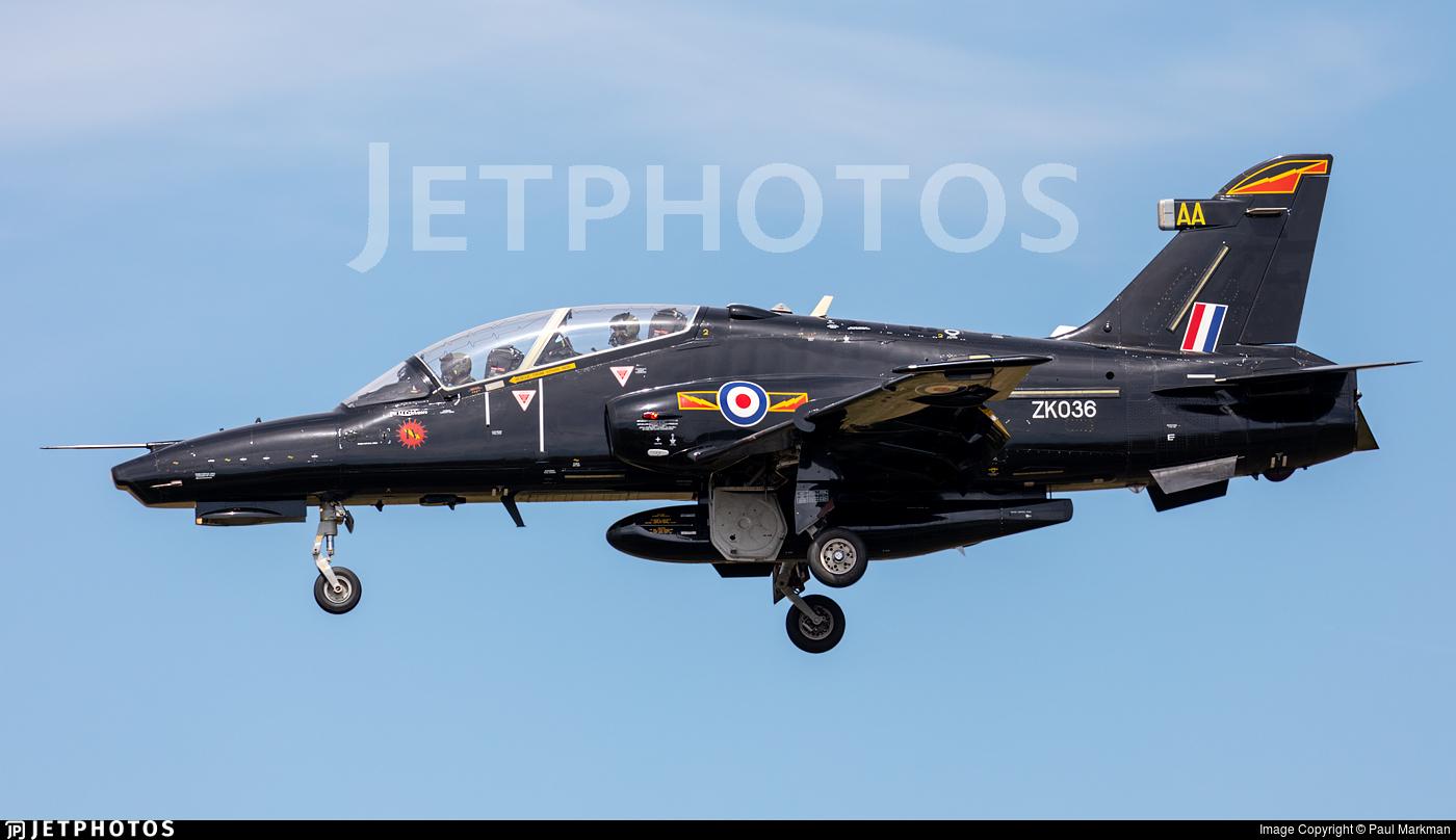 ZK036 - British Aerospace Hawk T.2 - United Kingdom - Royal Air Force (RAF)