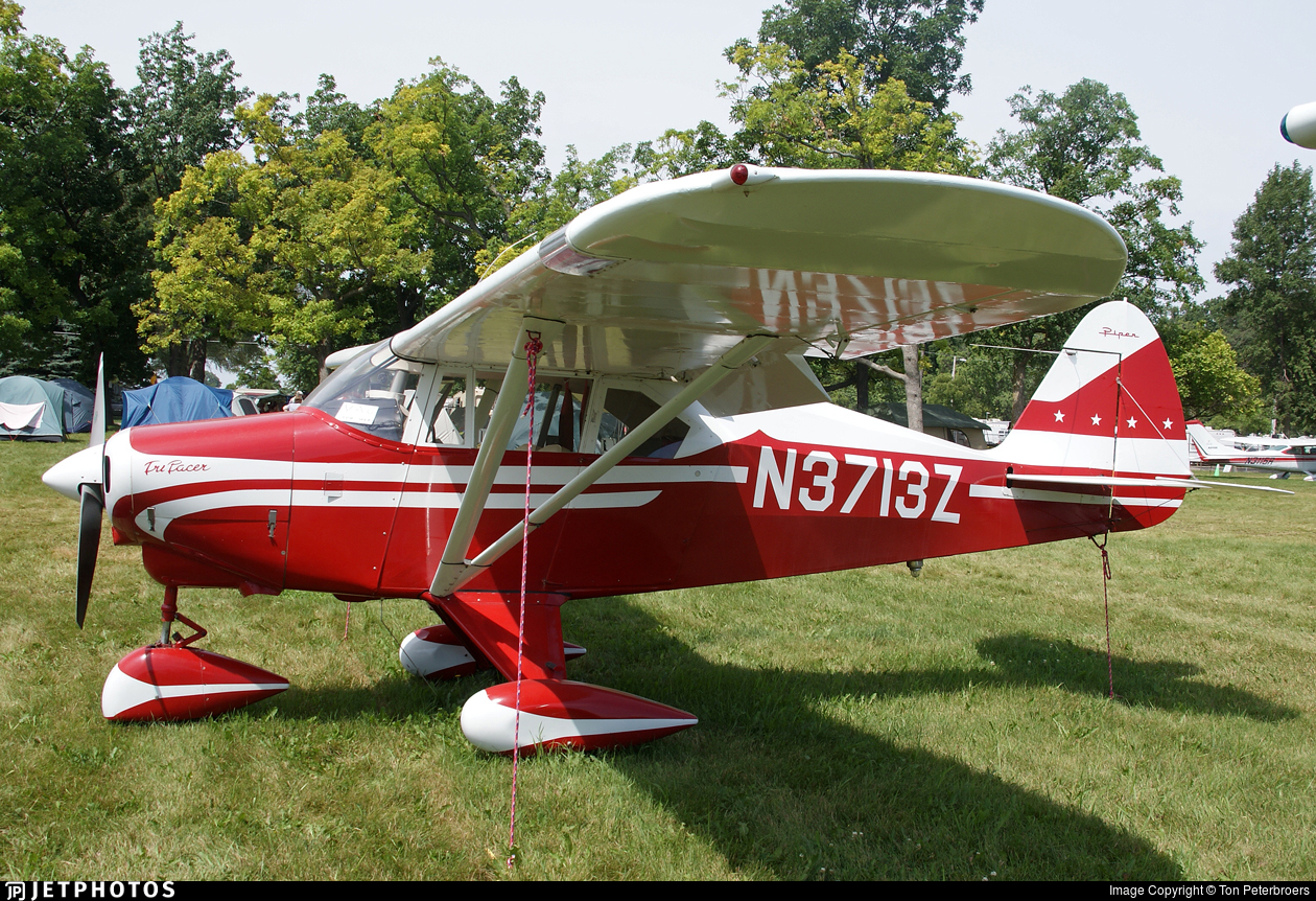 N3713Z | Piper PA-22-160 Tri-Pacer | Private | Ton Peterbroers