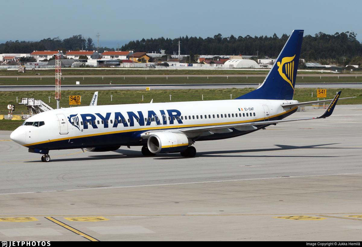 EI-DAF - Boeing 737-8AS - Ryanair