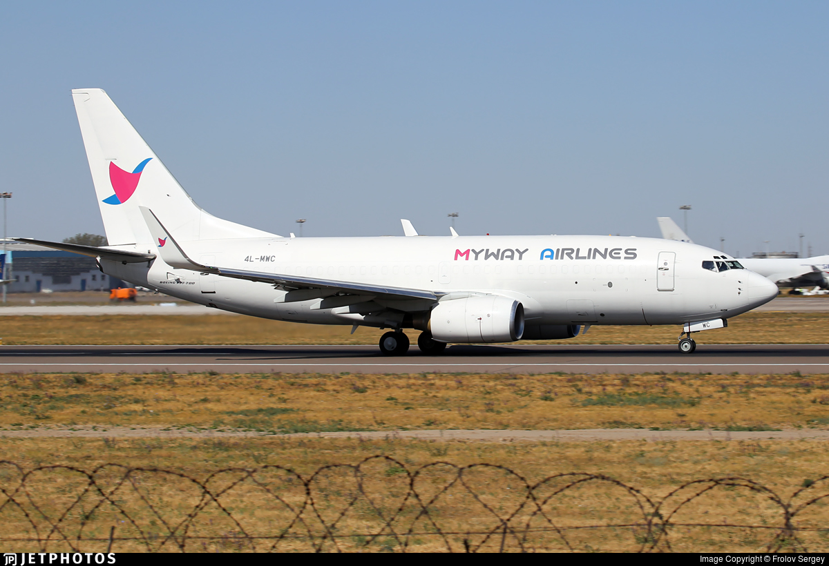 4L-MWC - Boeing 737-75C(BDSF) - Myway Airlines