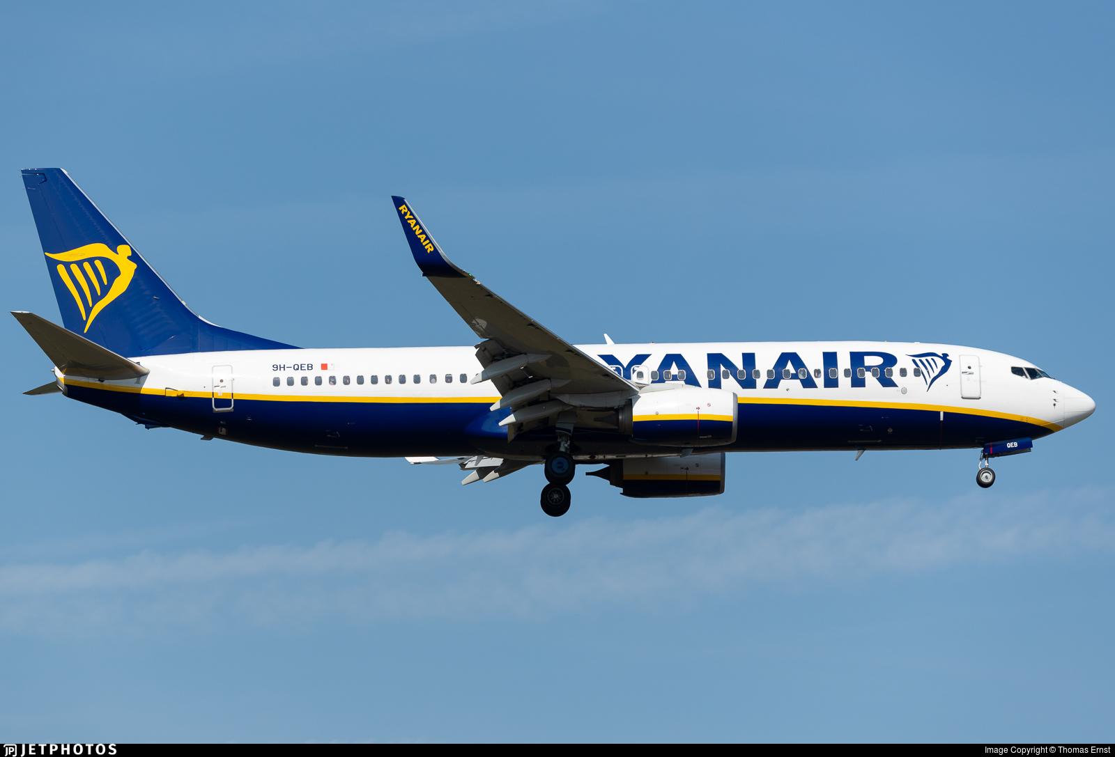 9H-QEB - Boeing 737-8AS - Ryanair (Malta Air)