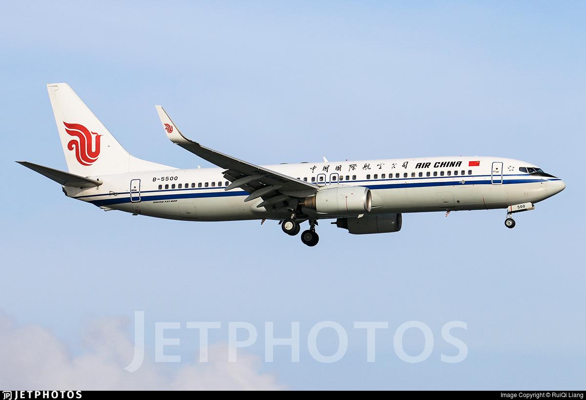 B-5500 - Boeing 737-89L - Air China