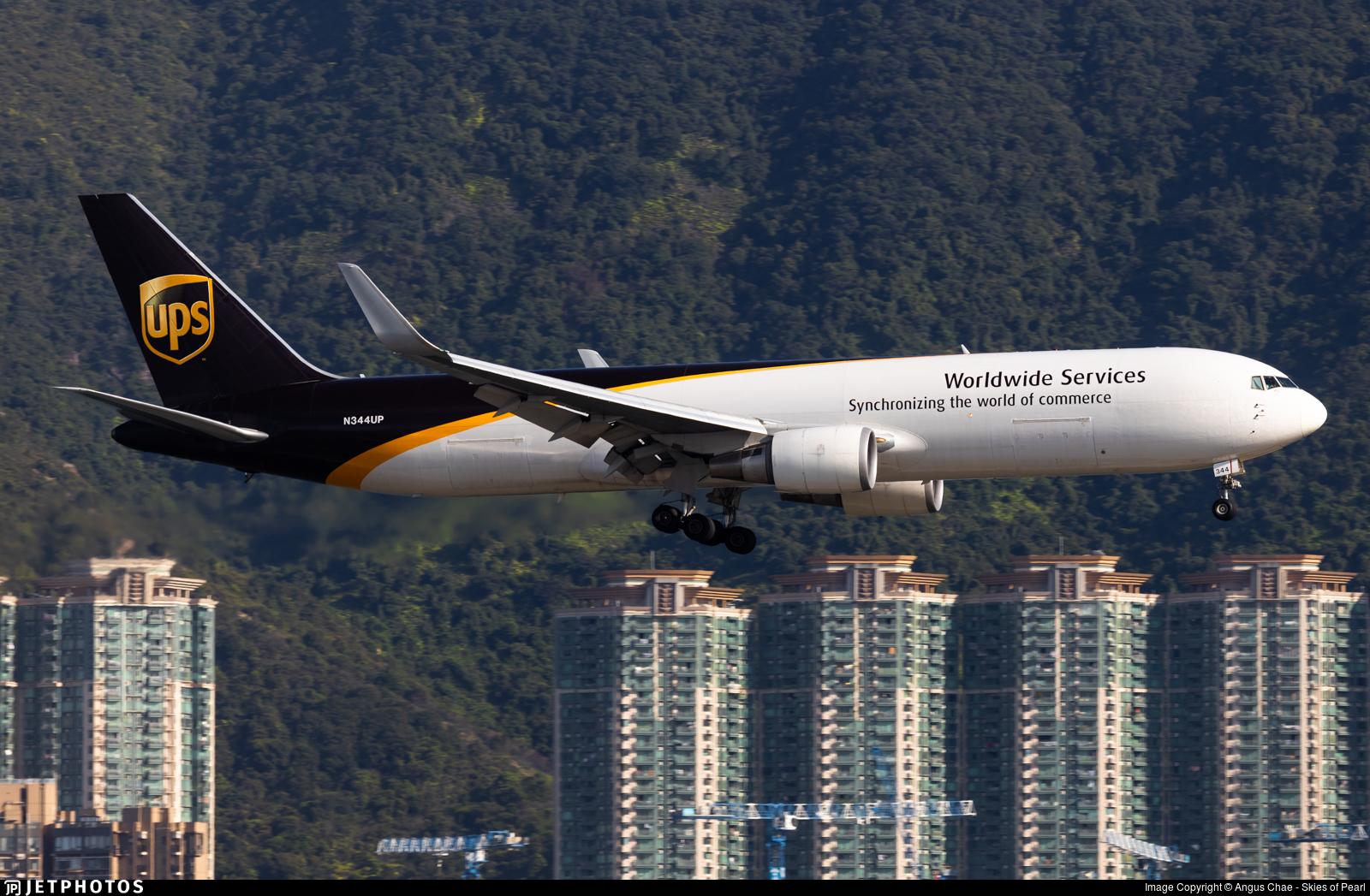 N344UP - Boeing 767-34AF(ER) - United Parcel Service (UPS)