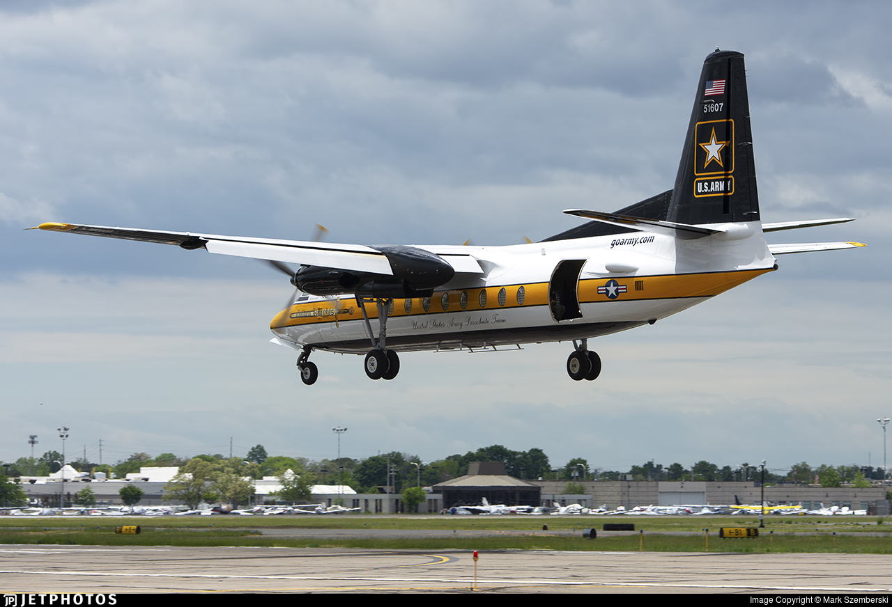 85-01607 - Fokker F27-400M Troopship - United States - US Army