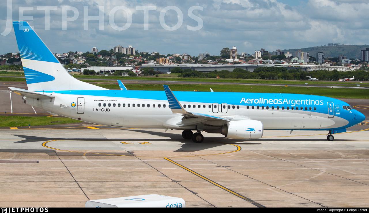 LV-GUB - Boeing 737-8SH - Aerolíneas Argentinas