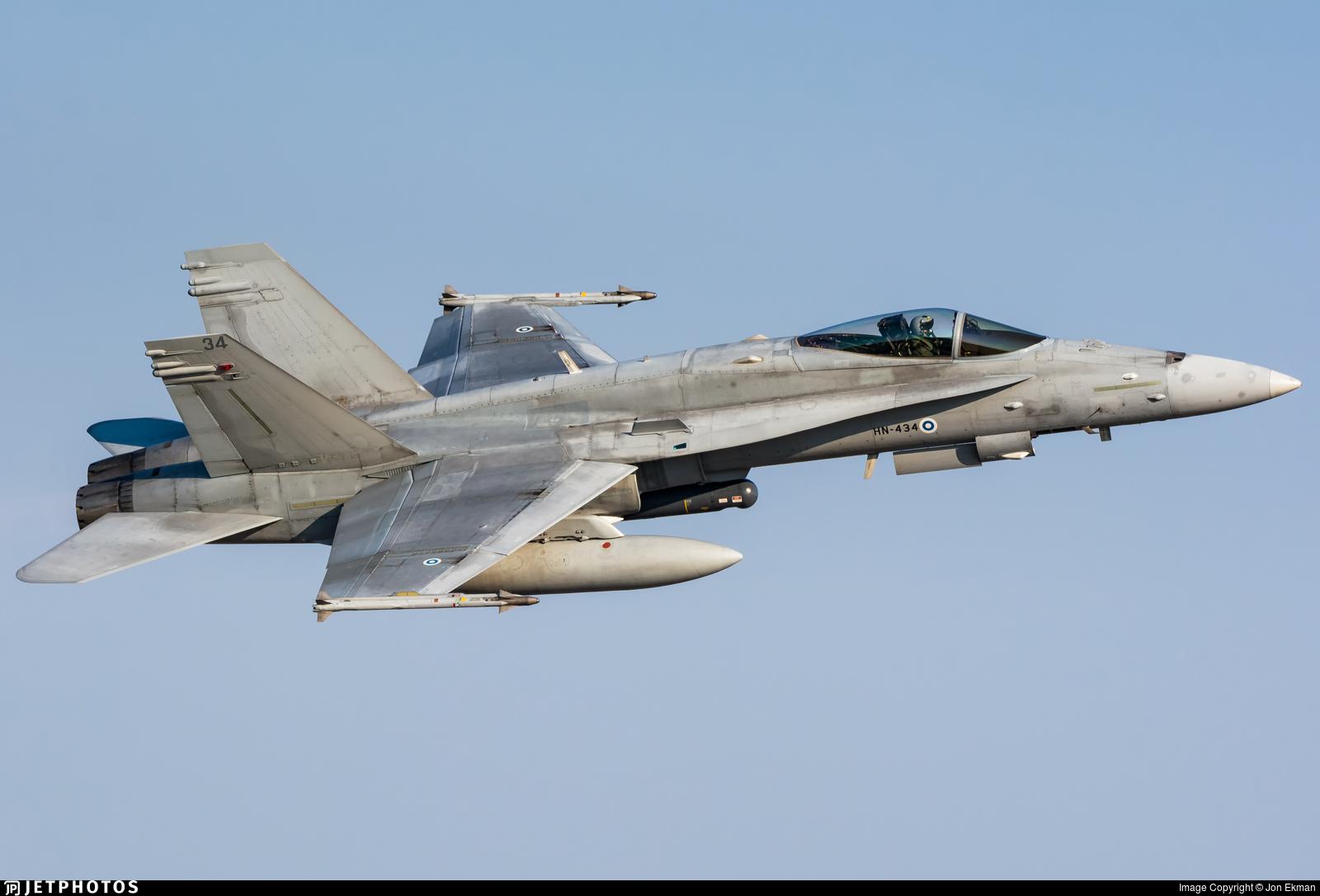 HN-434 - McDonnell Douglas F/A-18C Hornet - Finland - Air Force