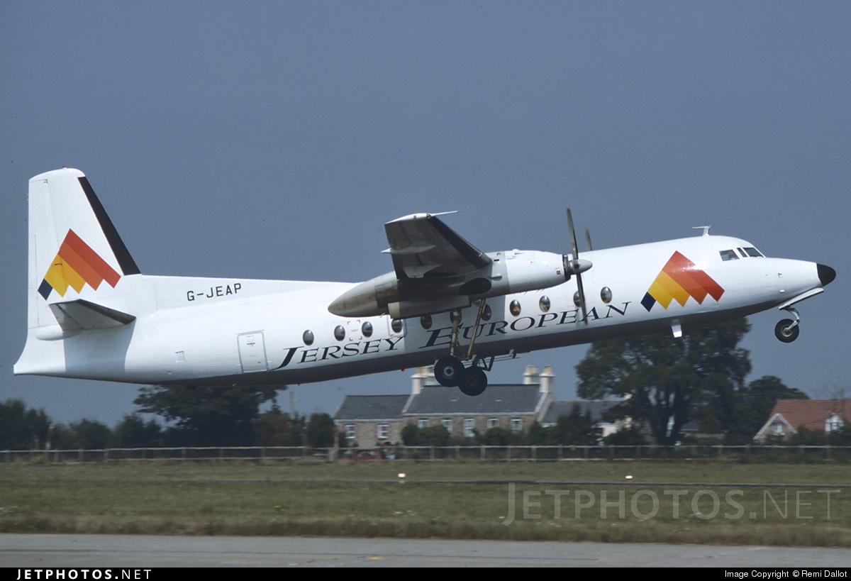 G-JEAP - Fokker F27-500 Friendship - Jersey European Airways