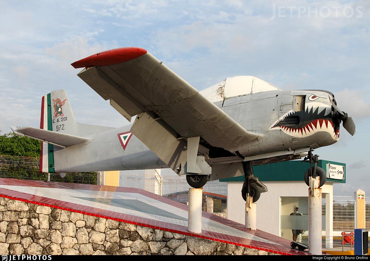 972 - North American T-28A Trojan - Mexico - Air Force