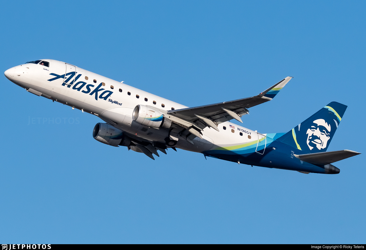 N196SY - Embraer 170-200LR - Alaska Airlines (Skywest Airlines)