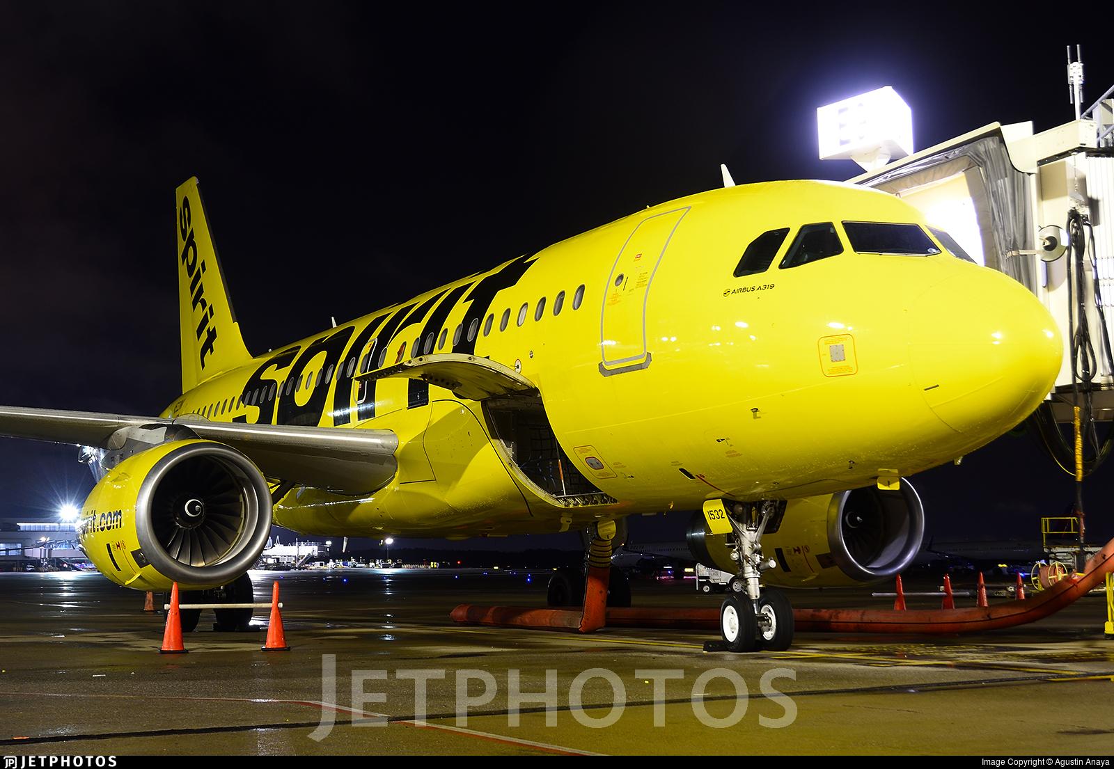 N532NK - Airbus A319-132 - Spirit Airlines