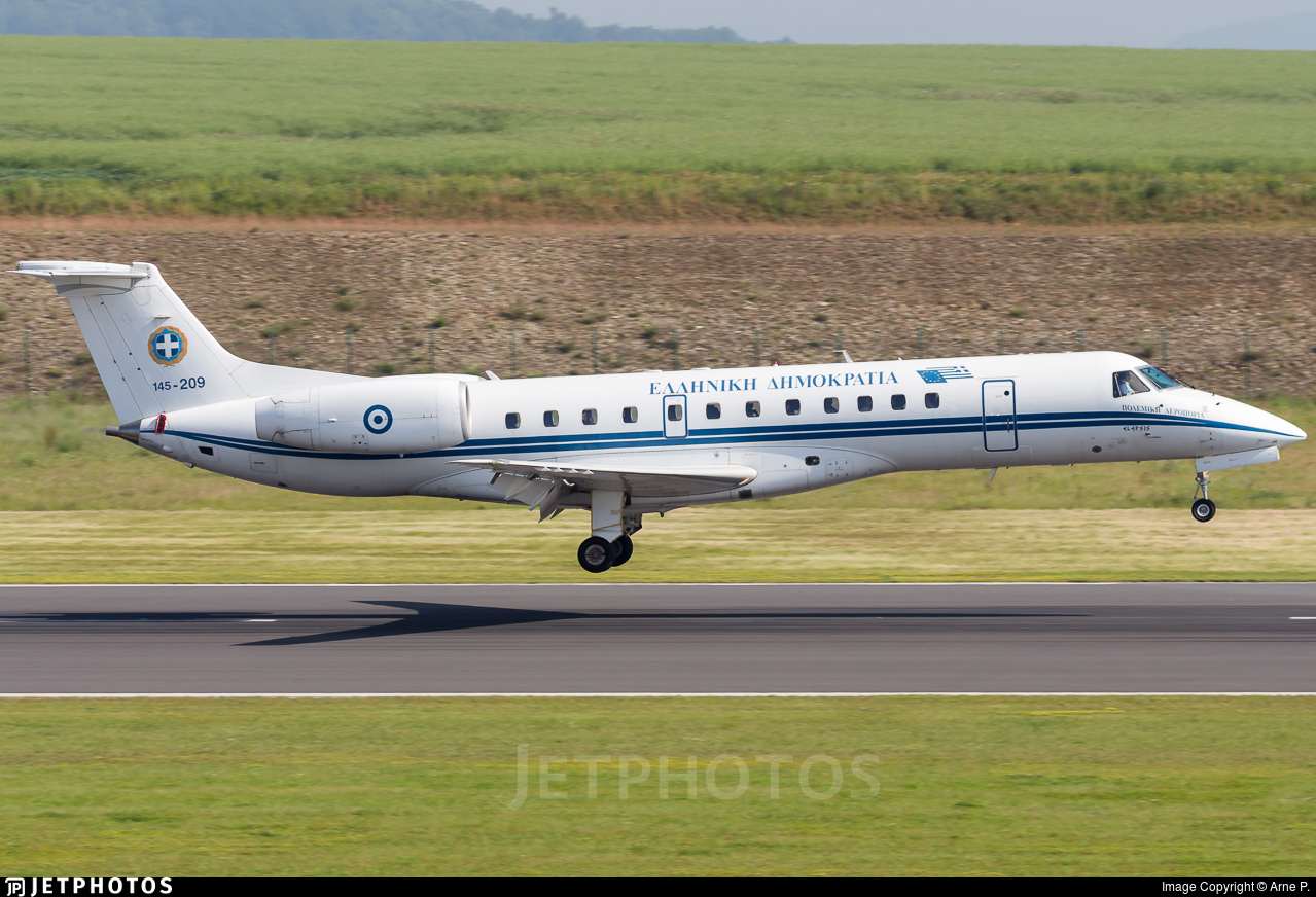 145 209 | Embraer ERJ 135LR | Greece Air Force | Mael